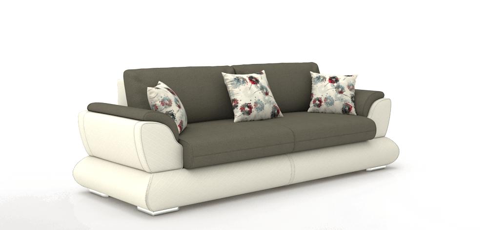 Pilka sofa AYDER profiliu